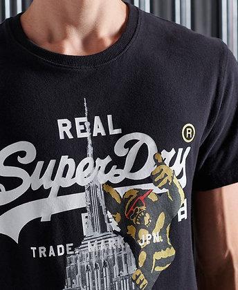 SUPERDRY T-shirt Noir NYC Singe