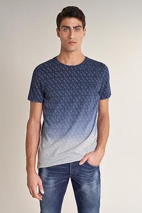 SALSA T-shirt à effet dégradé bleu