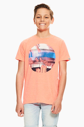 GARCIA T-shirt orange à imprimé photo