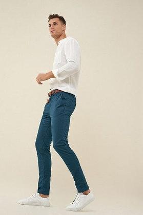 SALSA pantalon chinos bleu canard