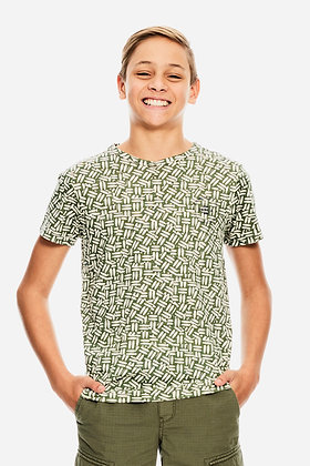 GARCIA t.shirt motifs kaki / écru