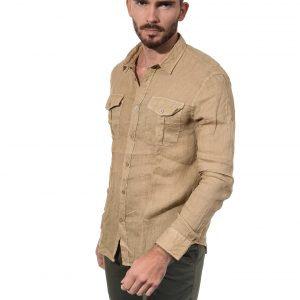 LA CIBLE ROUGE CHARLY chemise en lin régular