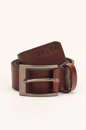 SALSA Ceinture en cuir avec marque logo  Marron 114846