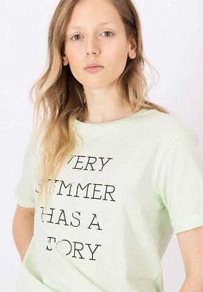 TIFFOSI T.Shirt Damasco Vert Pastel