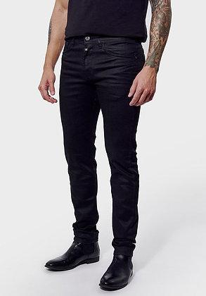 KAPORAL Jeans DARKO slim Cobalt noir huilé