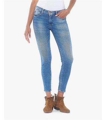 LE TEMPS DES CERISES Jeans power skinny 7/8 ème bleu