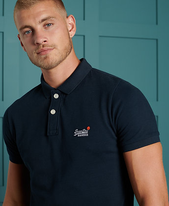 SUPERDRY Polo Organic Cotton Classic Pique Marine