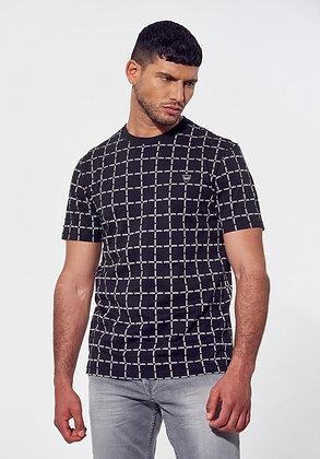 KAPORAL T-shirt régular noir Lexer  imprimé all over
