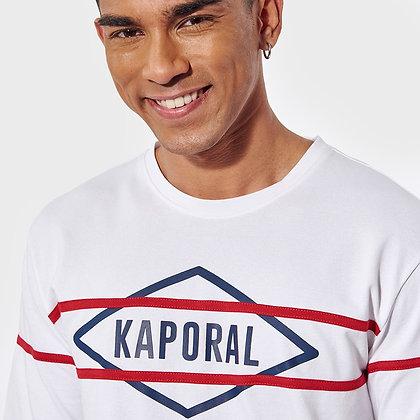 KAPORAL T-shirt régular Roye blanc  imprimé en relief