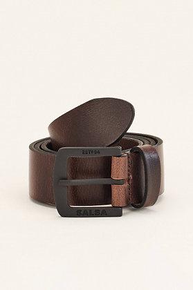 SALSA ceinture cuir marron