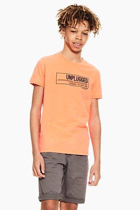 GARCIA T-shirt orange avec texte imprimé