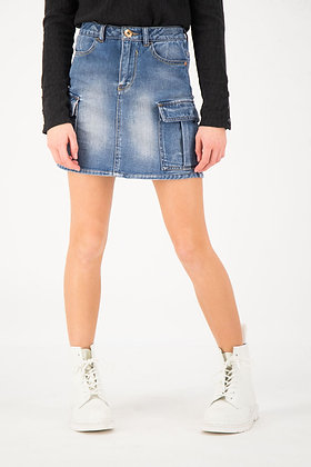 GARCIA Denim Blue Utility Skirt
