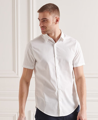 SUPERDRY chemise manches courtes Modern Tailor blanche