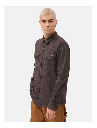 DICKIES chemise woodmere marron