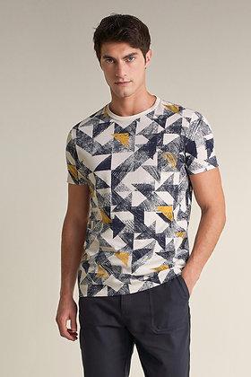 SALSA T-shirt à imprimé triangles allover 124691