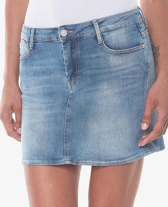 LE TEMPS DES CERISES Jupe en jeans baki