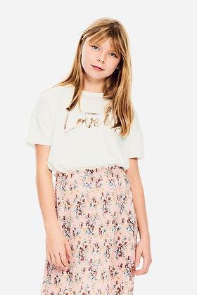 GARCIA T-shirt blanc coupe courte