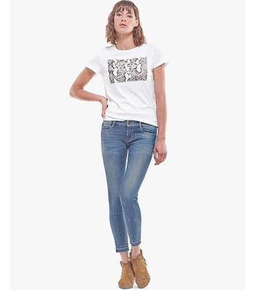 LE TEMPS DES CERISES Jeans pulp slim taille haute 7/8ème bleu