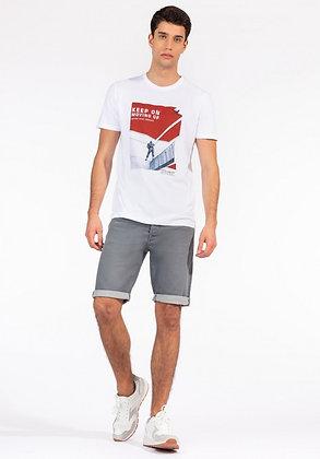 TIFFOSI  Kirkby Bermuda en jeans gris