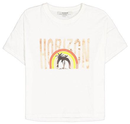 GARCIA T-shirt blanc à imprimé