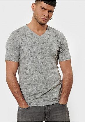 KAPORAL T-shirt Bricke gris  imprimé all over Barow