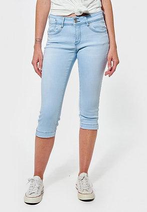 KAPORAL Pantacourt, corsaire en jean  Fluoe coupe slim, taille standard ››