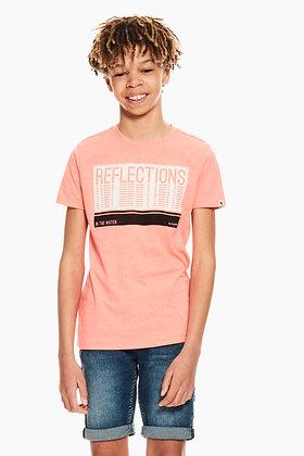GARCIA T-shirt orange avec texte imprimé Q03400