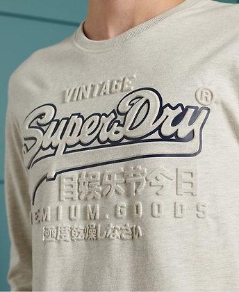 SUPERDRY T-shirt vintage logo relief