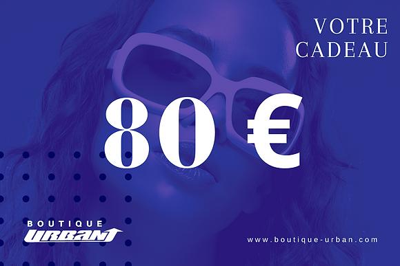 CHEQUE CADEAU 80€