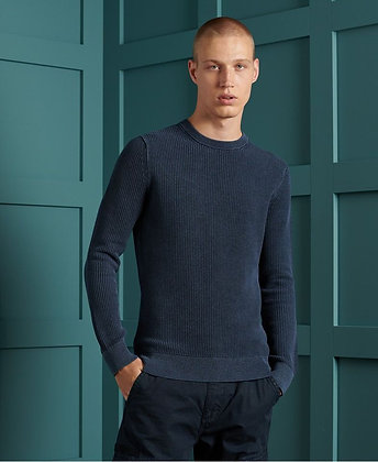 SUPERDRY pull Academy Dyed Texture Crew