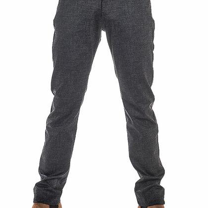 LA CIBLE ROUGE  Jeans toile Gris