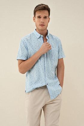 SALSA chemise slip fit imprimée Bleu