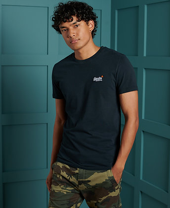 SUPERDRY T-Shirt Vintage Brodé En Coton Bio Marine
