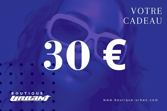 CHEQUE CADEAU 30€