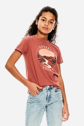 GARCIA T-shirt rose à imprimé