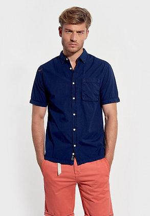 KAPORAL Chemise bleue à manches courtes, coupe droite Woone