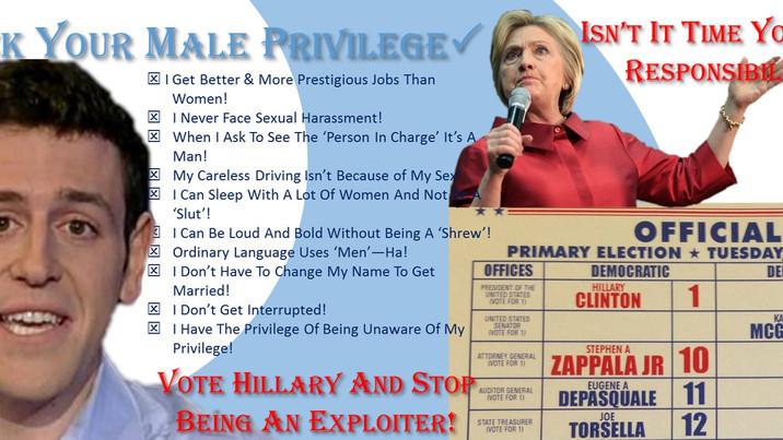 Hillary GOTV Strategy: Male Guilt, No Sex!