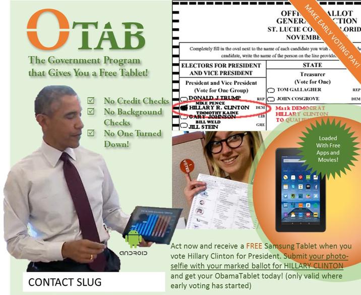 ObamaTablets - Democrat Vote Buying