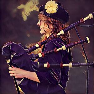 Kristen Egan, bagpiper