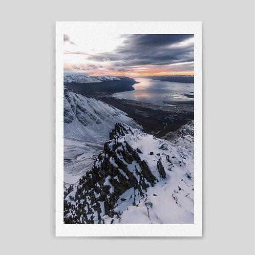 Jainnen: Sunrise in Ushuaia from Martial mountain summit