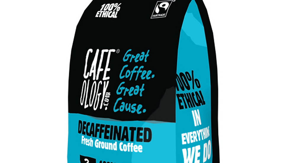 Cafeology Fairtrade Decaffeinated Ground Coffee 227g