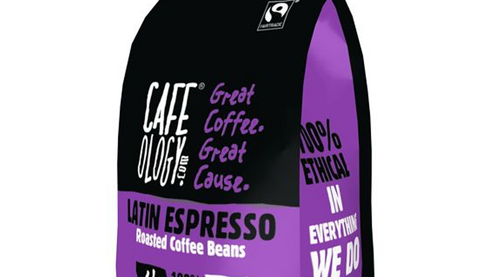 Cafeology Fairtrade Latin Espresso Beans 227g