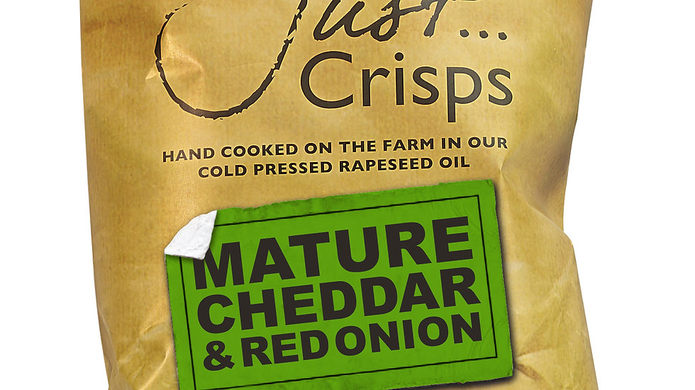 Just Crisps - Mature Cheddar & Red Onion 150g