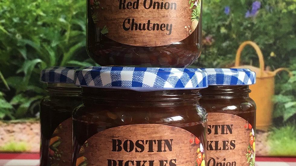 Bostin Pickles - Red Onion Chutney 225g