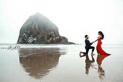 Photo shoot at Cannon Beach