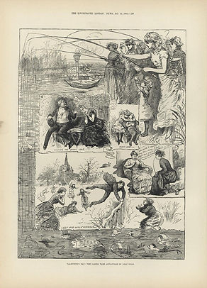 VALENTINE'S DAY: THE LADIES TAKE ADVANTAGE OF LEAP YEAR.  Leap Year 1885