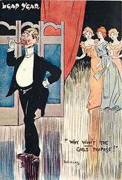 """LEAP YEAR. """"WHY WON'T THE GIRLS PROPOSE?"""" 1904"""