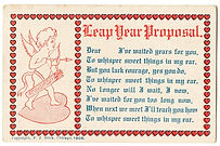 LEAP YEAR PROPOSAL 1908