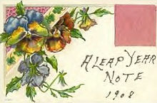 A LEAP YEAR NOTE 1908