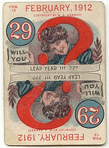 Leap Year Game Cards FEBRUARY 29 1912 proposal card.